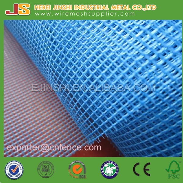 145g /平方米,5×5mm的蓝色玻璃墙面抹灰网、玻璃纤维网格布
