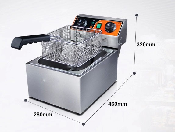 Food Grade Stainless Steel Commercial Electric Deep Fryers from Guangzhou Manufacturer