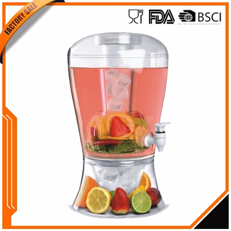 Hot sale food grade bpa free 3 Gallon BEVERAGE Jar Drink DISPENSER With Fruit Infuser Good Service