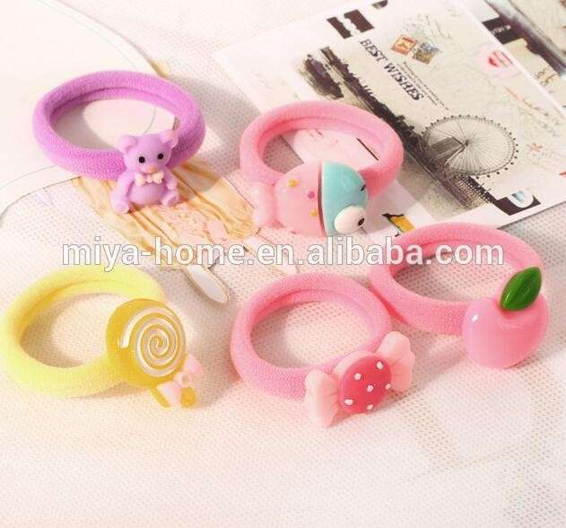 Candy Color Beautiful Girl s Elastic Hair Band   Kids Hair Accessories    Kids Hair Bands Rubber Band 6f3066908d8