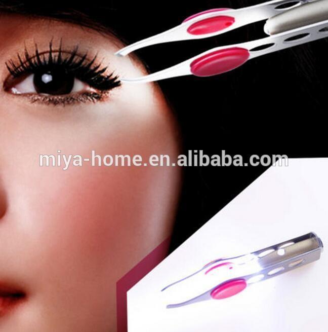 新来的LED灯睫毛眉毛去除钳/不锈钢眉钳
