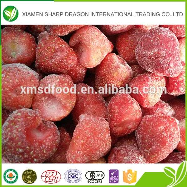 Wholesale bulk high quality iqf frozen strawberry fruit