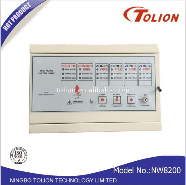 Fire Alarm Security 4 Zone Conventional Fire Alarm Control Panel