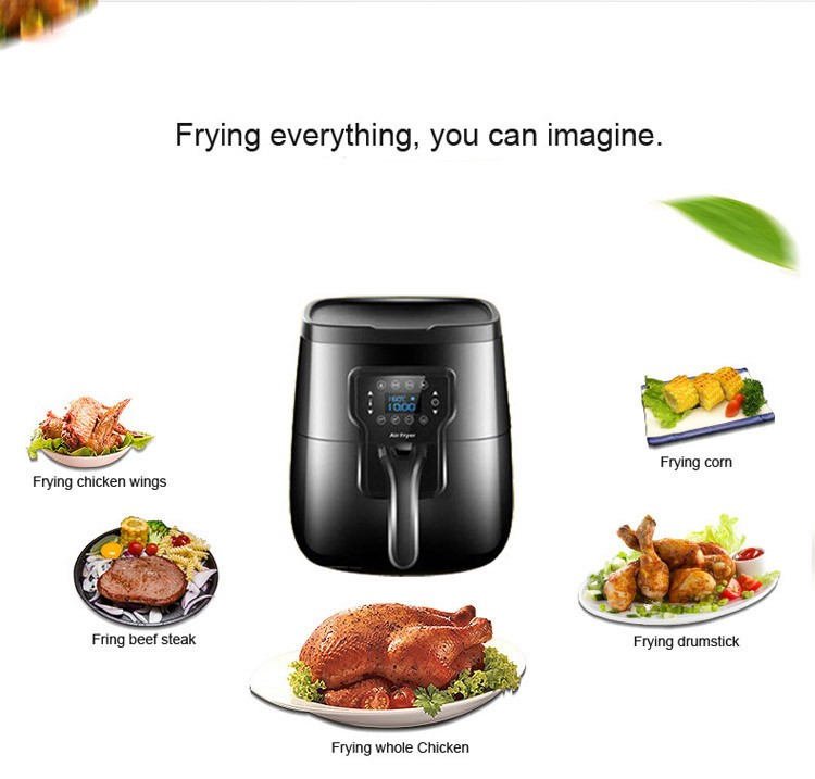 LCD Display Oil-free Air Circulation Fryer /Electric Deep Fryer Without Oil