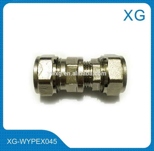 Nickel plated copper male and female threaded socket/gas pipe brass compression fittings