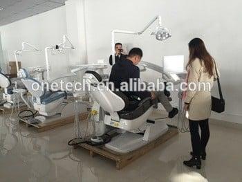 温馨舒适的高档牙科设备/无声的直流电机牙科椅价格/进步的牙科dc22