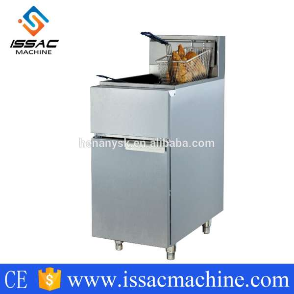 35L 2 blue basket 3 tubes LPG Gas Vertical Temperature-control Kfc open cooking Chicken fryers