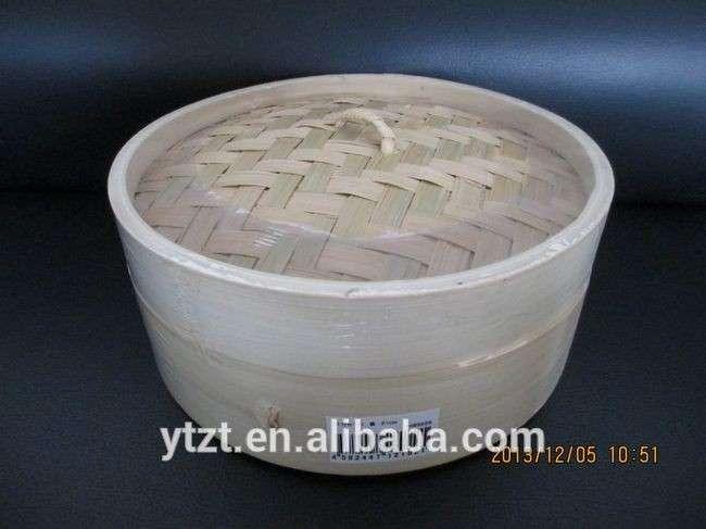 点心&;amp;馒头的竹篮子的炊具