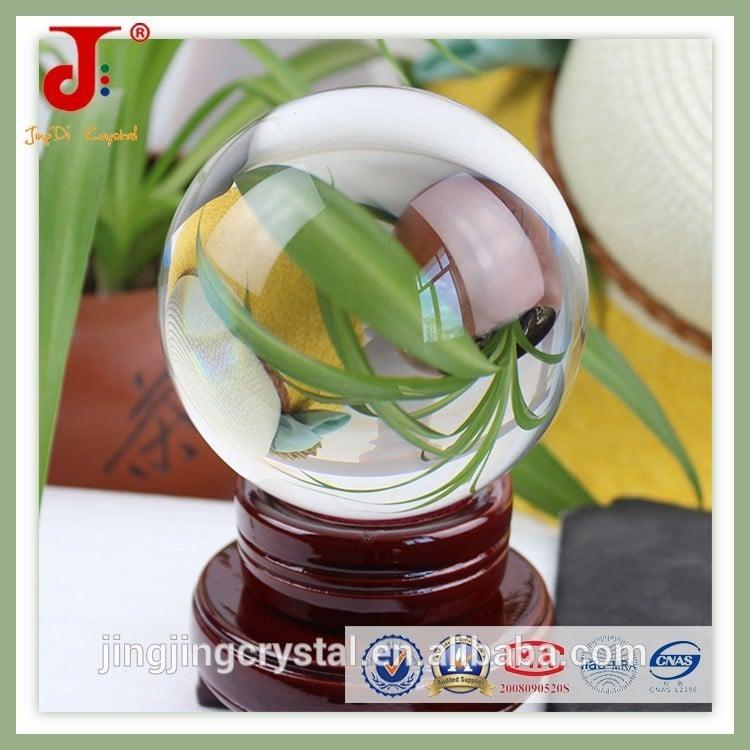 家居水晶装饰精致的K9玻璃球