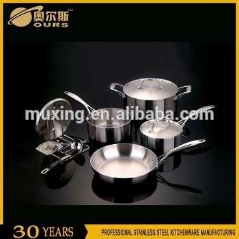 欧洲设计热销售不锈钢炊具/搪瓷铸铁炊具套装