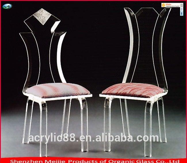 2016定制的现代廉价丙烯酸餐椅丙烯酸客厅的婚礼椅