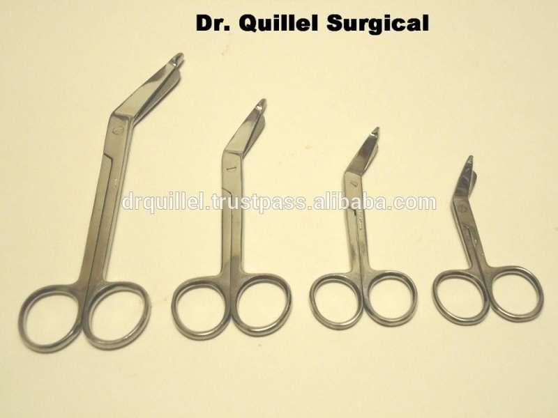 最好的4个李斯特绷带剪刀3.5 + 4.5 + 5.5 + 7.5手术器械
