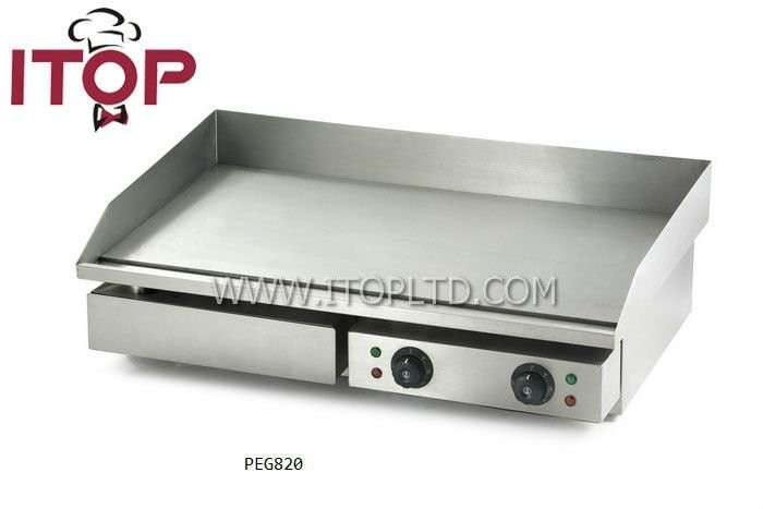 Industrial Electric Range Griddle Flat Plate Grill Contact