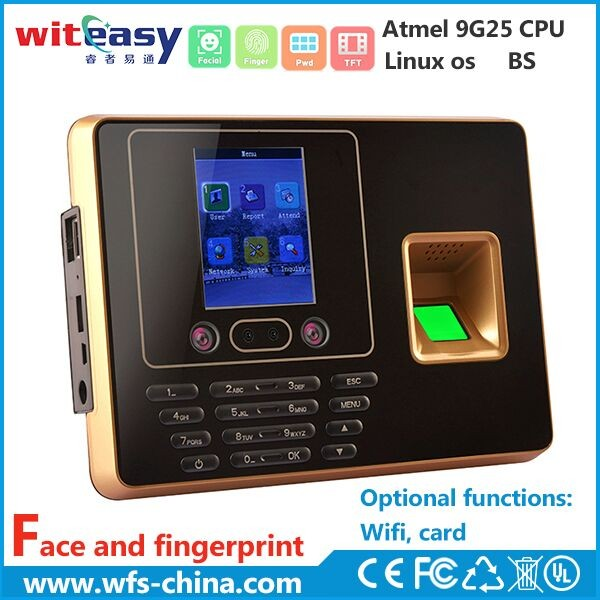 WIFI and wiegand linux operating system biometric face&fingerprint time recording attendance system