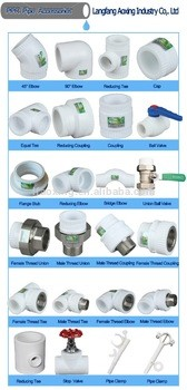 2017 plastic pipe ppr and plastic pipe fittings for water supply system