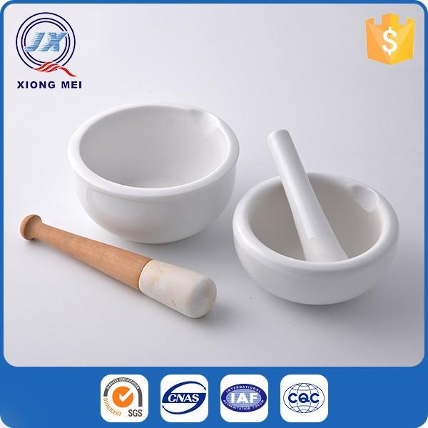 便宜的价格定制高档厨房白瓷研钵和杵