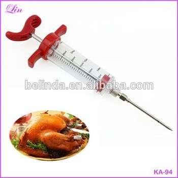 高质量的卤汁注射器注射器烹饪风味肉禽土耳其鸡肉烧烤工具