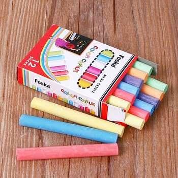 100 / 12sticks彩盒包装彩色粉笔