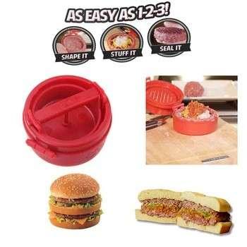 填充式汉堡压饼模模压塑料新颖紧凑型汉堡机厨房配件烹饪工具