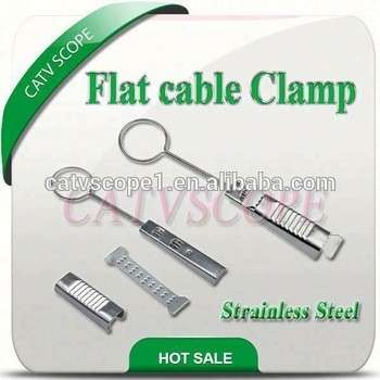 不锈钢电缆夹/扁电缆夹/光纤到户线夹