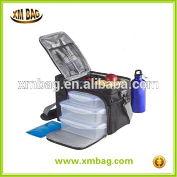 食品使用准备袋部分控制3餐袋保温餐管理袋餐容器,振动器,冰袋