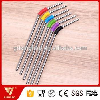 食品级304不锈钢秸秆与不同颜色的硅环