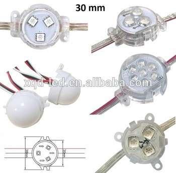 低价格的LED点30mm ws2811光高源用LED显示户外像素灯串