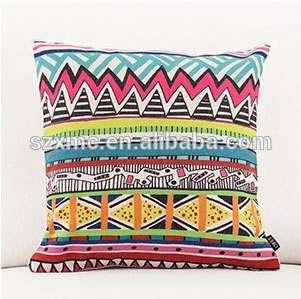 泰国波浪数字印花亚麻纤维填充真空包装枕