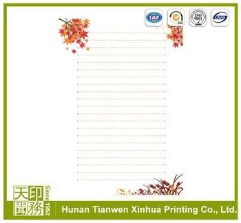 modern top sell embossed fancy letter paper