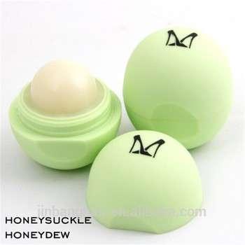 批发多色天然成分糖果6色球形保湿润唇膏