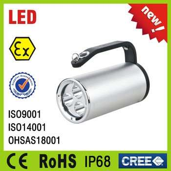 CE RoHS IP67 portable Explosion Proof LED Search light, Flamproof search lamp, Explosion Proof LED Searchlight