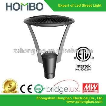 ETL 30W 40W 50W New LED Garden Lighting Yard Pole Lamp DLC