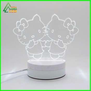 批发现代风格的创意3D LED台灯