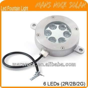Led Fountain Light with 6 LEDs (2R/2B/2G)
