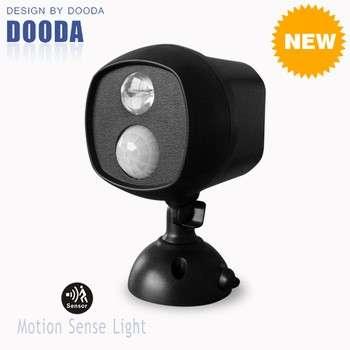 防水电池操作150流明无线运动传感器和光电LED射灯