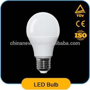 塑料+铝LED灯泡照明5W E27 A60 CE,ROHS认证的LED灯泡,ERP