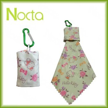 Low Price Personalized Microfiber Cloth With Keychain