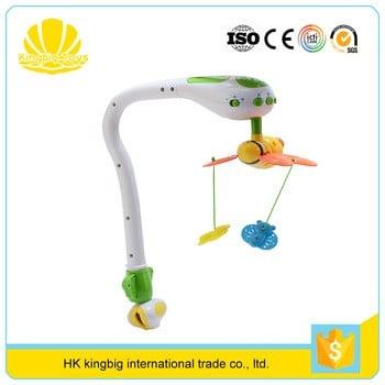 安全塑料床铃玩具蝴蝶形婴儿手机出售