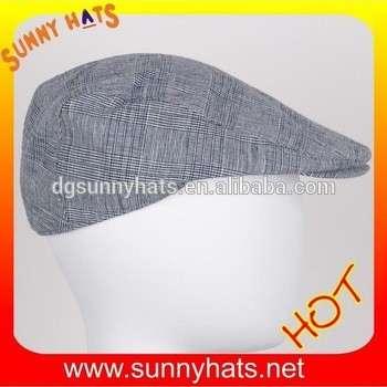 6cfd83fbe2b Linen Gatsby Cap Men Newsboy Ivy Hat Flat Golf Driving Cabbie Hat