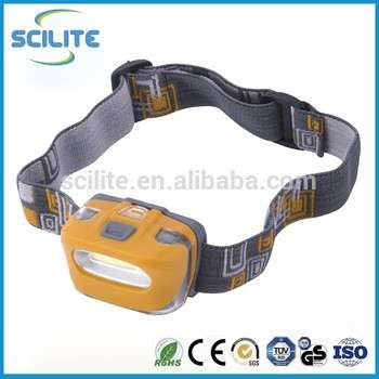 Light weight plastic Camping COB Headlamp for running outdoor sports and working