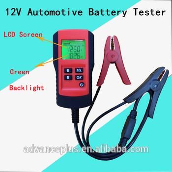 AE300 2016热卖12V数码汽车蓄电池负载测试仪数字电池容量分析仪/检查与cefcc证书