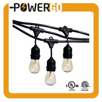 悬挂的插座weathertite technology-11s14白炽灯室外防水商业级LED灯串