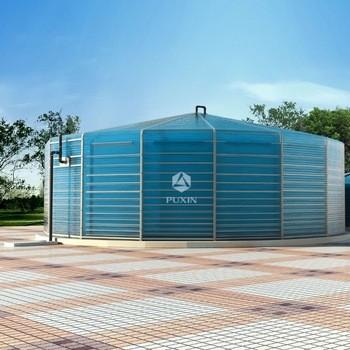 新的便携式260m3工业沼气厌氧消化池