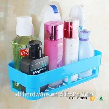 蓝色廉价塑料浴室架浴室储物器厨房架