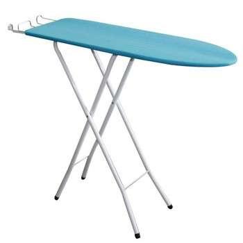 家庭洗衣用易折叠金属圆管木质铁板便宜价格烫衣板