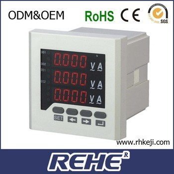 RS485 rh-3uif63三三相交流电压、电流和频率组合表