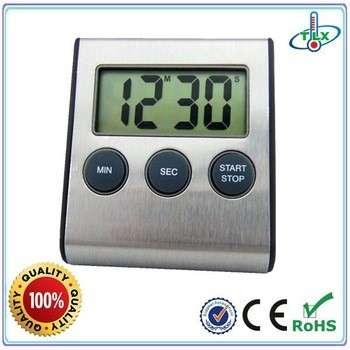 阿里巴巴顶级制造商超过3年保证超级响亮的不锈钢磁厨房数字定时器