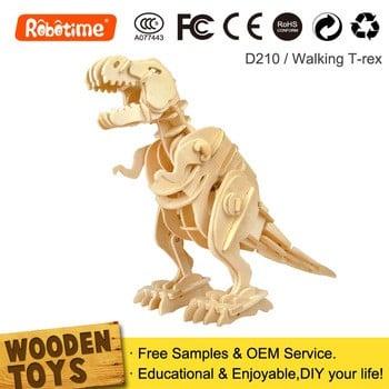 若态DIY机器恐龙玩具超过6岁
