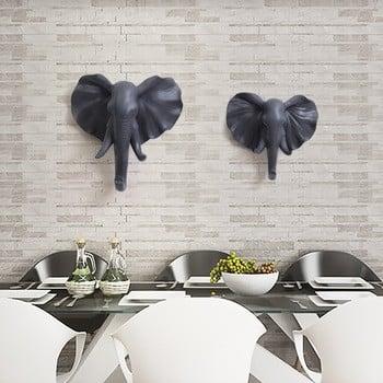 roogo树脂著名艺术墙动物鹿/大象/犀牛墙显示头像