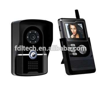 2.4G color wireless interphones/wireless video door phones with IP65 waterproof